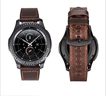 لساعة Samsung Gears 3 Mad Horse Leather Watch Band Smart Watch Accessories استبدال