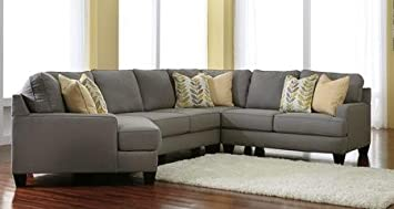 Ashley Chamberly 24302LCSEC4PC 4 Piece Sectional Sofa With Left Arm Facing  Cuddler Armless Loveseat Wedge