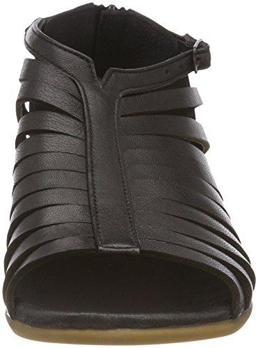 002 Andrea Women's Black Conti Heels 1745724 Schwarz Sandals TBB81q0nr