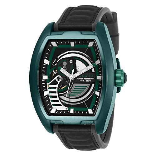 Invicta S1 Rally Automatic Black and Green Dial Men's Watch 26892 (Invicta Watches For Men Tonneau)
