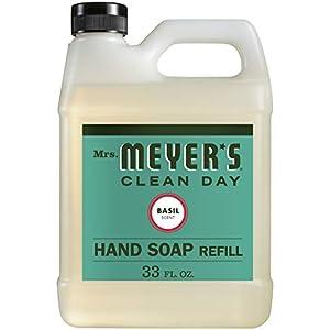 Mrs. Meyer's Liquid Hand Soap Refill, Basil, 33 fl oz (Pack of 1)