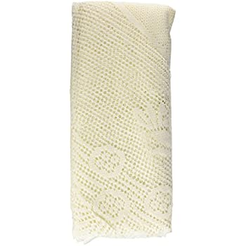 Ritz 100% Polyester Oversized Easy Care Linen Lace Tablecloth, Round, 70  Inch