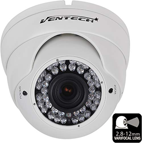 Ventech HD 1000TVL 36 IR LED Awesome Quality Video CCTV cmos 960h Dome Camera Home Security Day Night Infrared 36IR Night Vision Indoor Varifocal 2.8mm-12mm