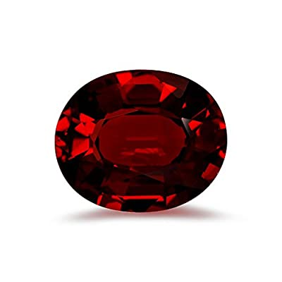 1.45 Cts of AAA 8x6 mm Oval Step Cut Mozambique Garnet ( 1 pc ) Loose Gemstone