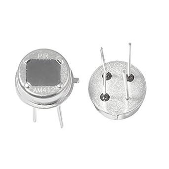 2 piezas 4 Pin piroeléctrico sensor PIR IR humano detector infrarrojo Cuerpo: Amazon.es: Industria, empresas y ciencia