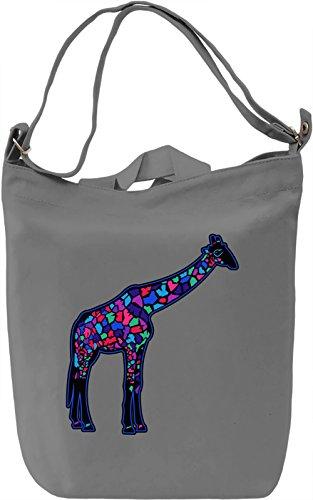 Colourful Giraffe Borsa Giornaliera Canvas Canvas Day Bag| 100% Premium Cotton Canvas| DTG Printing|