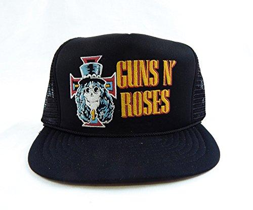 (Vintage 1990's Guns N' Roses Mesh Slash Skull Trucker Hat)