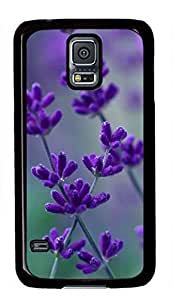 Cherry Blossom And Butterfly Painting Theme Case for Samsung Galaxy S5 i9600 PC Material Black