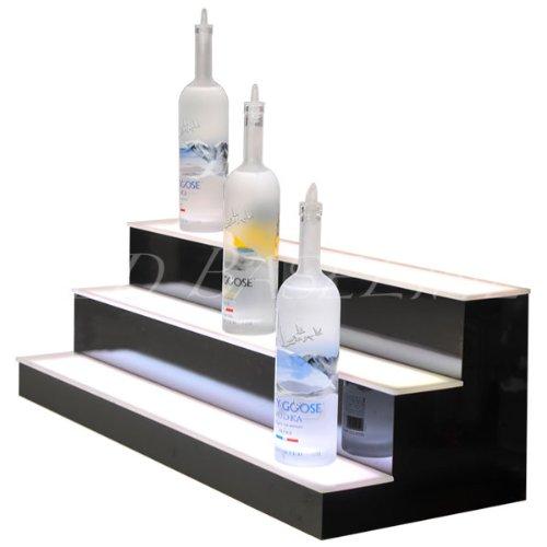 Home & Bar Lighted Bar Shelf 3 Step 34'' by LED Baseline (Image #1)