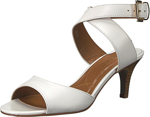 J. Renee Women's Soncino White Leather 8.5 M US