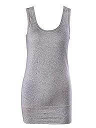 Moxeay Women Plain Basic Classic Scoop Neck Sleeveless Cotton Tank Top Vest (XL, 3pcs)