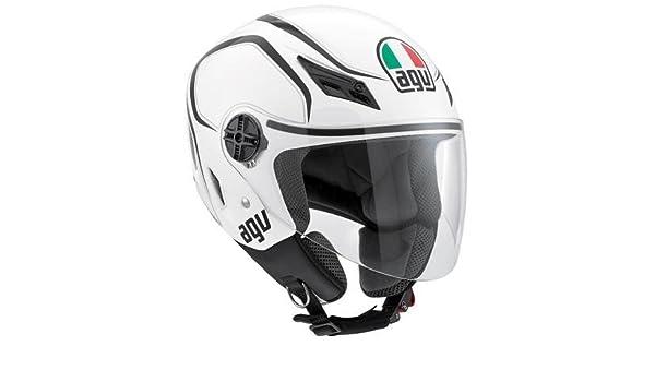 Amazon.es: AGV Blade Tab Casco, distintivo de nombre:, color blanco y negro, género: para hombre/unisex, categoría: Street, casco Cascos integrales tipo: ...
