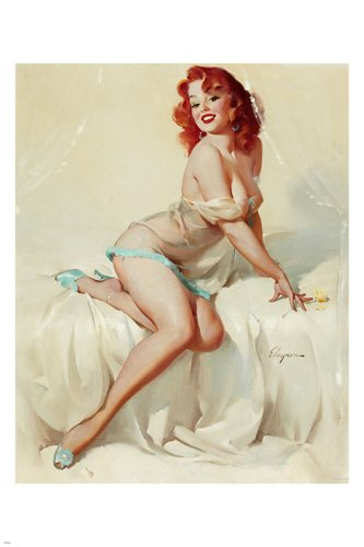 1958 Darlene Sexy Girl Bedside Manner poster redhead Pin-Up Buxom