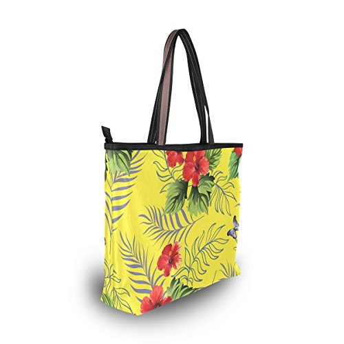 À tout Hibiscus Alaza Tropicales Hawaïenne Sac Épaule Fourre Grand Main Fleurs Fxw8Sg