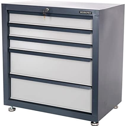 Heavy Duty Steel Construction Storage Cabinet With Five Drawers Features  Locking System
