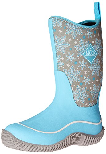 Muck Boot Kids' Hale Pull-On Boot, Blue Snowflake, 4 M US Big Kid by Muck Boot