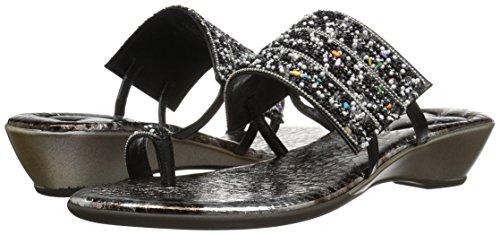 Love & Liberty Women's Sammy-Ll Toe Ring Sandal, Black, 7 M US by Love & Liberty (Image #6)