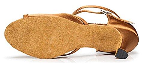 Donna Satin 7 Brown MGM Heel 5cm Joymod Sala xXTngE