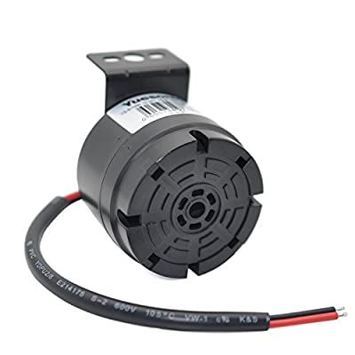 YUESONIC Universal 10-24V 100dB Waterproof Back-Up Alarm with Black Plastic Spray Bracket: Automotive