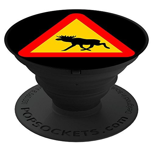 - Fuzewear Warning Sign Moose PopSockets Stand for Smartphones and Tablets