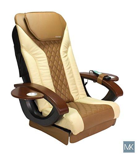 Shiatsulogic Pedicure Chair Vibration Cover Cushion NEW 2-Tone Cappuccino & Sand