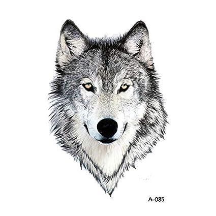 Yangll Diseño De Lobo Tatuaje Temporal para Adultos Tatoo ...