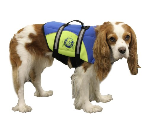 Paws Aboard Small Neoprene Designer Doggy Blue / Yellow Life Guard / Jacket Upto 15-20 lbs