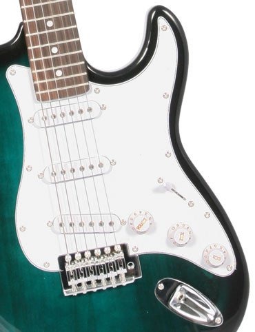 Crescent EG-TG 39″ Electric Guitar Starter Package – Translucent Green Color
