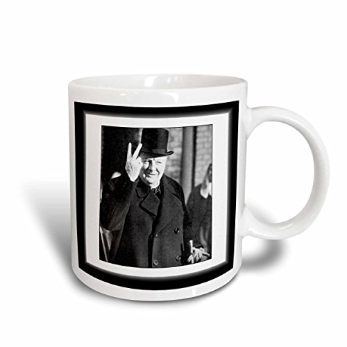 3dRose mug_98649_2 Vintage Photo of Winston Churchill, Jpg Ceramic Mug, 15-Ounce (Mug Churchill Winston)