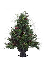 By Allstate 3' Potted Pine Artificial Christmas Tree with...