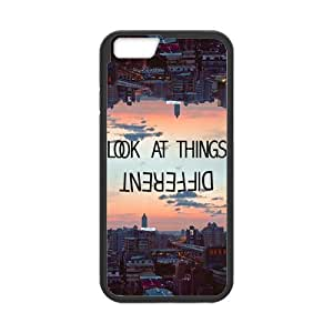 iPhone 6 Protective Case -Life Quote Look At Things Different Hardshell Cell Phone Cover Case for New iPhone 6