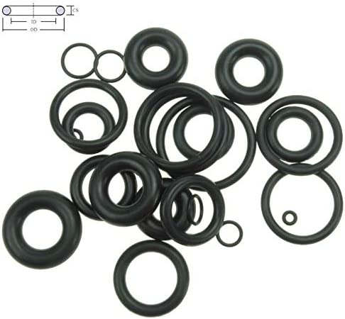 Size : 9mm x 1.5mm 30pcs CS Thickness 1.5mm OD5-65mm NBR Rubber O Ring O-Ring Oil Sealing Gasket Automobile Sealing no logo WSF-Adapters