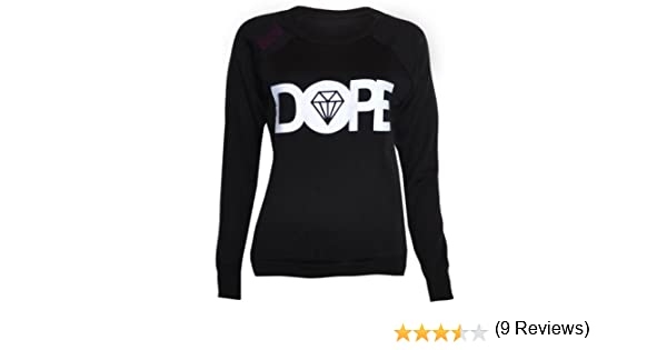 (womens dope sweater top) Para mujer dope suéter superior ((black) negro, 36/38 (uk 8/10)): Amazon.es: Deportes y aire libre