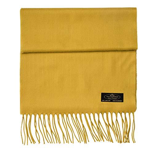 100% Cashmere Scarf Super Soft For Men And Women Warm Cozy Scarves Multiple Colors FHC Enterprize (Gold)