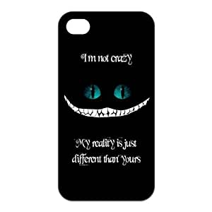 Cute Quote I'm not crazy my reality is just different than yours Protective Rubber Cover Case for iPhone 4,iPhone 4s Cases
