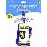 Beistle 50100 Oktoberfest Centerpiece, 15-Inch