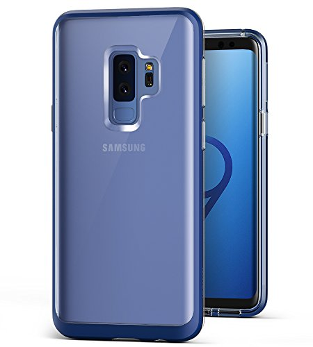 Galaxy S9 Plus Case, VRS DESIGN Clear Dual Layer Protective Case [Deep Sea Blue] Transparent Slim Premium Shockproof TPU Silicon Heavy Duty PC Bumper Cover for Samsung Galaxy S9 Plus [Crystal Bumper]
