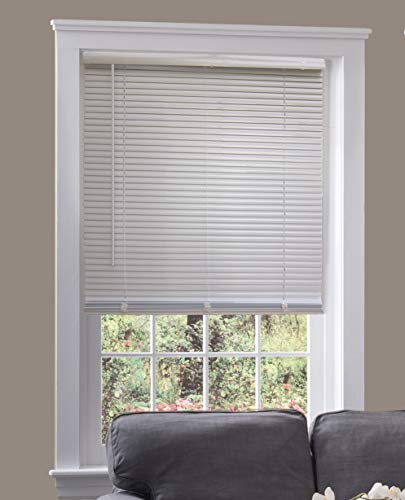 Custom Cordless 1″ Mini Blind White 22.5″ W x 36″ L