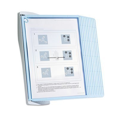 Durable Sherpa Style Wall Reference System with 20 Sheet Capacity, Blue/Gray (DBL594306) by Durable