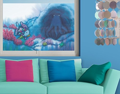 Window Mural The Rainbow Fish - Octopus In Cave window sticker window film window tattoo glass sticker window art window décor window decoration Size: 56.7 x 85 inches by PPS. Imaging
