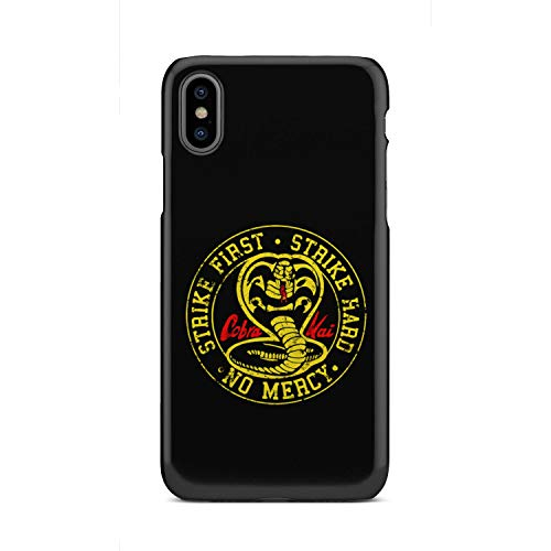 - 95Vibes Cobra Kai Karate Dojo Strike First Strike Hard No Mercy Phone Cases for iPhone/Samsung Made in USA