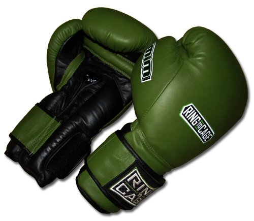 20oz, 22oz, 24oz Deluxe MiM-Foam Sparring Gloves - Safety Strap , Top Rated Boxing Training Gloves, for Boxing, MMA, Muay Thai, Kickboxing (24oz, Marine Green/Black)