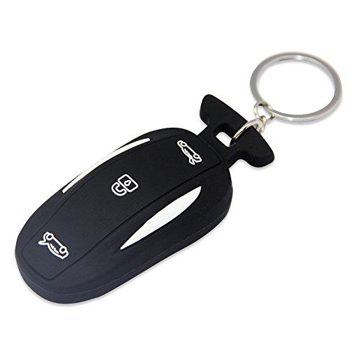 Topfit Silicone Key Cover for the Tesla Model X P90d(Black) (Model Christmas Tesla X)
