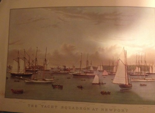 Calendar Currier & Ives Prints (The Yacht Squadron At Newport, Reprinted in 1979 From Lith Currier & Ives (Size:11
