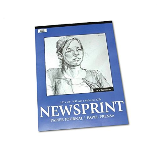 Newsprint Pad Smooth 50 Sheets 18X24 by Jack Richeson