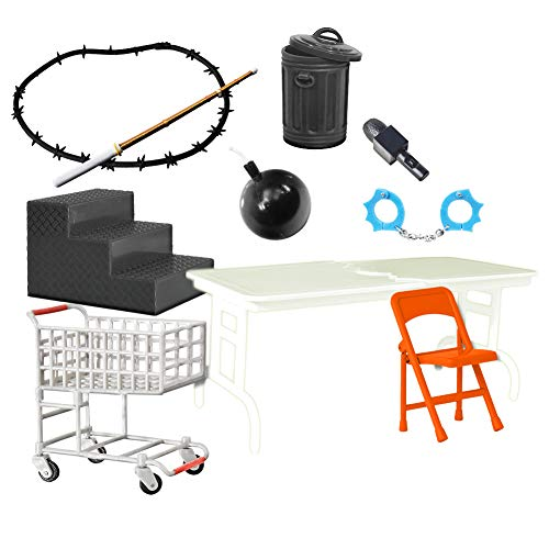 10 Piece Hardcore Accessory Set for WWE Wrestling Action -