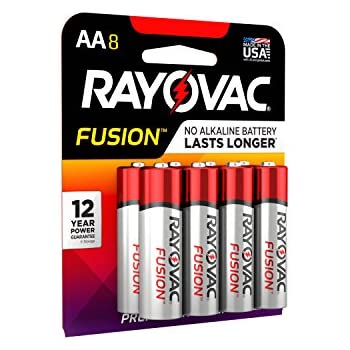Amazon.com: RAYOVAC AA 8-Pack FUSION Premium Alkaline