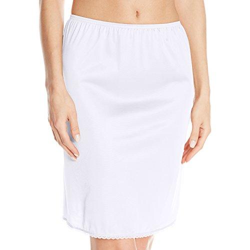 Vassarette Womens Tailored Anti-Static Half Slip 11122, White Ice-24 inch, Medium