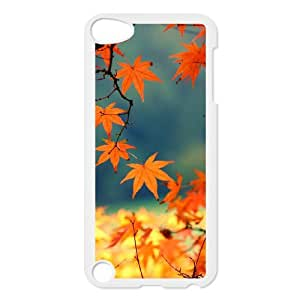 HEHEDE Phone Case Of Maple leaves red for iPod Touch 5