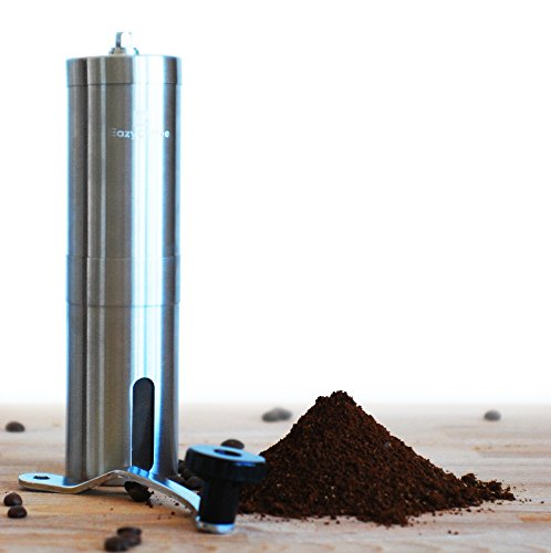 Manual Coffee Grinder-Deluxe Stainless Steel-Ceramic Burr Coffee Mill With Adjustable Grind Size By EazyCoffee Review